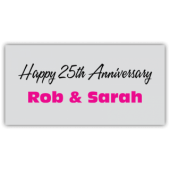 Happy 25th Anniversary Rob & Sarah