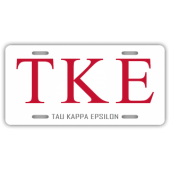 Tau Kappa Epsilon License Plate