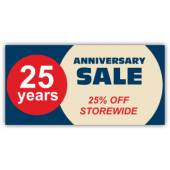 25 Years Anniversary Sale 25% OFF Storewide