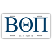 Beta Theta Pi License Plate
