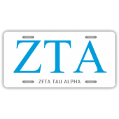 Zeta Tau Alpha License Plate