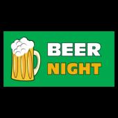 Beer Night Vinyl Banner