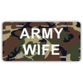 Army Wife License Plate