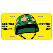 Support Our Troops License Plate