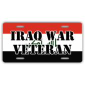 Iraq War Veteran License Plate