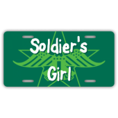 Soldier's Girl License Plate