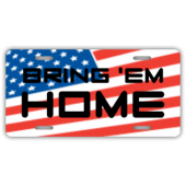Bring 'Em Home License Plate