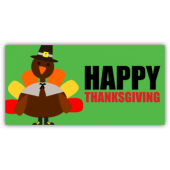 Happy Thanksgiving With Cartoon Turkey