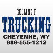 Rolling 307 Truck Lettering