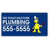 Plumbing Company Magnetic Sign - The Toilet Doctors - Magnetic Sign