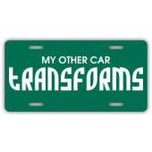 Transforms License Plate