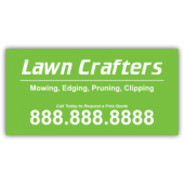 Lawn Crafters Landscaping Company Magnetic Sign - Magnetic Sign