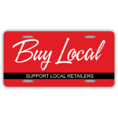 Buy Local Support Local Retailers License Plate