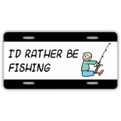 Fishing License Plate