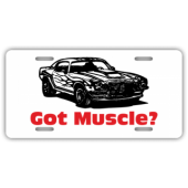 Got Muscle License Plate
