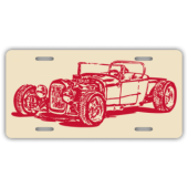 Hot Rod License Plate