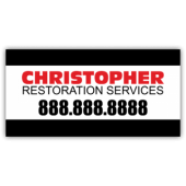 Christopher Restoration Service Magnetic Sign - Magnetic Sign