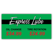 Exbress Lube Oil Change Vinyl Banner