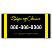 Ridgeway Cleaners Vinyl Banner