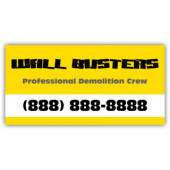Wall Busters Demolition Service Magnetic Sign - Magnetic Sign