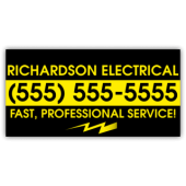 Electrician Magnetic Sign - Richardson Electrical - Magnetic Sign
