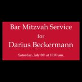 Bar Mitzvah Service Vinyl Banner