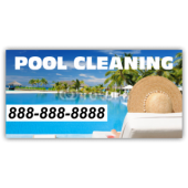 Pool Cleaning Vinyl Banner