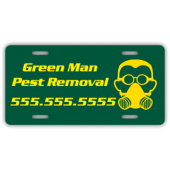 Pest Removal Company License Plate