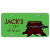 Stump Removal Service License Plate