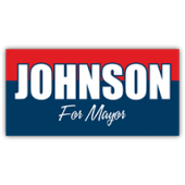 Johnson For Mayor Sign - Magnetic Sign