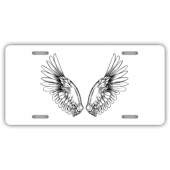 Angel Wings License Plate