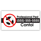 Pest Control Company Magnetic Sign - Professional Pest Control - Magnetic Sign