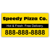 Speedy Pizza Co. Magnetic Sign - Magnetic Sign