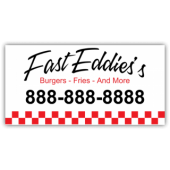 Fast Eddies Burgers Magnetic Sign - Magnetic Sign