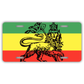 Rastafari License Plate