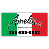 Amelia's Italian Cuisine Magnetic Sign - Magnetic Sign