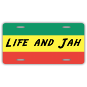 Life and Jah License Plate