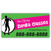 Zumba Classes Magnetic Sign - Magnetic Sign