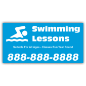 Swimming Lessons Magnetic Sign - Magnetic Sign