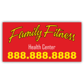 Family Fitness Health Center Magnetic Sign - Magnetic Sign