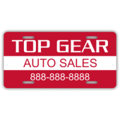Top Gear Auto Sales License Plate