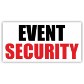 Event Security Magnetic Sign - Magnetic Sign