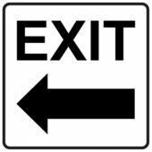 Exit Left - Square