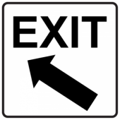 Exit Up/Left - Square