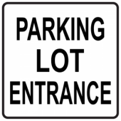 Parking Lot Entrance - Square
