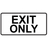 Exit Only - Elongated