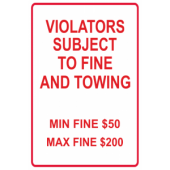 Violators Subject To Fine