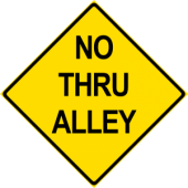 No Thru Alley