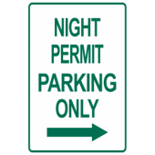 Night Permit Only Right Arrow