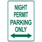 Night Permit Only With Arrows
